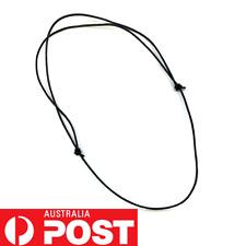 BLACK 1mm LEATHER CORD SLIDING KNOT ADJUSTABLE CHOKER NECKLACE