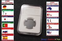 1 x New High Quality Coin Slab Holder (26mm) Storage Case with Free Extra Label
