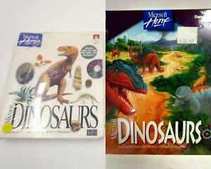 RARE SEALED Vtg 1993 & 1994 Microsoft Home DINOSAURS PC Mac Game Software CD-Rom