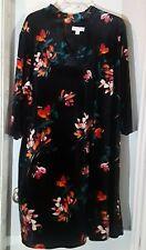 2f28413ffdd New ListingPlus size 2x Boutique velvet black flower dress 3 4 sleeve 18 20  blouse top