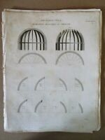 Vintage Engraving,ARCHITECTURE,Geometrical Carpentry,1810
