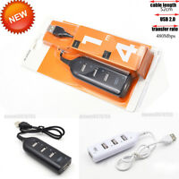 4 Port USB 2.0 Mini Multi Hub High Speed Splitter Extension Adapter Desktop PC