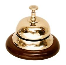 Antique Brass Reception restaurant Hotel kitchen Desk Service Bell counter