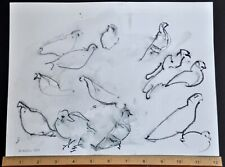 Winter Birds,  Original Contemporary Fine Artwork, Watercolors, W.Gowell Artist