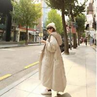 Bodenlang Outwear Kapuze mit große Tasche Damenmode Kleidung Jacken Mäntel