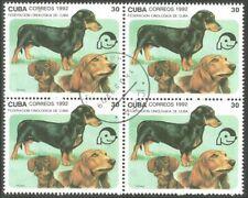 Dog Teckel block of 4 stamps (47)