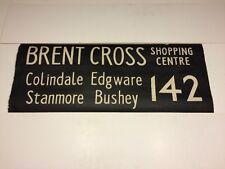 "London Bus Blind 9877 36""- Brent Cross 142 Colindale Edgware Stanmore Bushey"