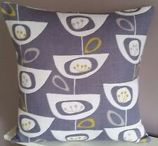 John Lewis Fabric Seedheads New Cushion Cover Grey Retro Contemporary 16""