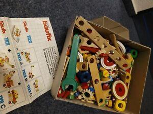 Baufix Holzspielzeug mit Anleitung, eine Kiste, Set, Kinder Spielzeug, 80er 90er