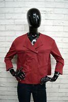 Giacca DONDUP Donna Taglia Sz 46 Maglia Coat Jacket Blazer Rosso Cotone Vintage