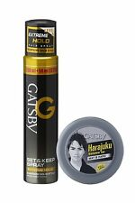 Gatsby Set and Keep Extreme Hold Hair Spray with Mat and Hard Hair Styling Wax