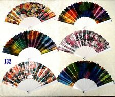 Lot of 6 Spanish Style Floral Pattern Wedding Dancing Folding Hand Held Fan Hot!