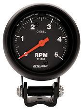 Auto Meter Performance Z-Series Mini Tachometer 2 5/8 in. Diesel 5000 RPM (2888)