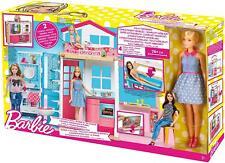 Barbie 2-Etagen Ferienhaus & Puppe + Kleid + Zubehör Traumhaus Mattel  NEU & OVP