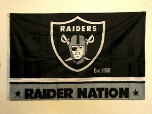 Raiders Nation Banner flag 3x5ft NFL Fast Shipping