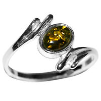 1.45g Authentic Baltic Amber 925 Sterling Silver Ring Jewelry N-A7257