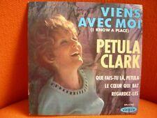 VINYL 45 T – PETULA CLARK : VIENS AVEC MOI + 3 – POP JERK YEYE SIXTIES – VOGU 65