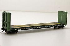 N Scale 70T Bulkhead flatcar BC Rail