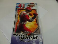 4 Today...Save The World....Power Rangers....Birthday Greetings Card..With Badge