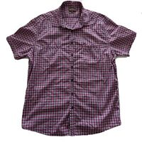Rodd & Gunn Size L Red Blue White Check Short Sleeve Button Shirt Men's