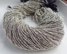 "13"" strand silver coated PYRITE faceted gem stone rondelle beads 2mm"