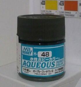 Gunze Aqueous Hobby Color H-48, Flat Field Gray (2)