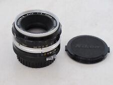 Nikon F Nikkor 5cm f:2 lens caps Nippon Kogaku Japan, early shining chrome LQQK