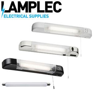 Knightsbridge 230V 6W LED Shaver Light with USB Charger White, Matt Black,Chrome