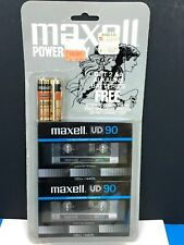2 New Sealed Maxell UD90  Cassette Tape Made In Japan