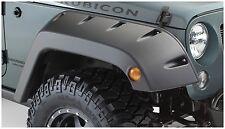 Bushwacker Front Pocket Style Fender Flare Set 07-17 Jeep JK 2/4 Door, 10077-02