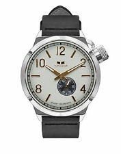 VESTAL CANTEEN WATCH CNT3L01 GOLD / SILVER / MARINE / BLACK ITALIAN LEATHER BAND