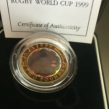 GB COINS 1999 RUGBY PIEDFORT PROOF SILVER UNTOUCHED IN CASE SUPERB HOLOGRAM