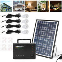 Portable 12V Power Generator Kit Inverter with Solar Panel Camping Power Quiet
