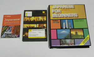 Beginner Japanese conversation CD  pack + cassette pack + Collins phrase book