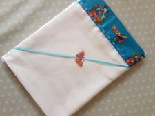 Handmade Baby Cream Polycotton Stripe Top Sheet- Mickey Mouse Satin Crib/Moses
