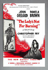 "John Gielgud ""LADY'S NOT FOR BURNING"" Pamela Brown 1951 Washington, D.C. Flyer"