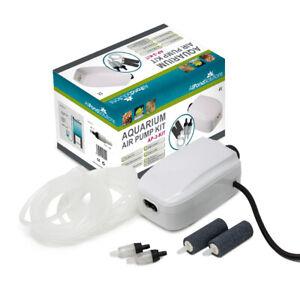 Aquarium Fish Tank Tropical Air Pump - FREE Stones, Hose, Return Valve 90-180L/H