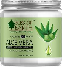 Pure Crystal Clear Aloe Vera Gel | 200GM | Great For Face, Body & Hair | Effecti