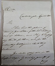 Percy Smythe, 6th Viscount Strangford, 1821 Signed Letter, Ottoman Ambassador
