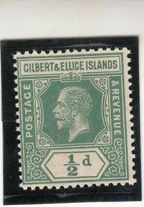 Gilbert & Ellis Islands 1912 KGV 1/2d MNH
