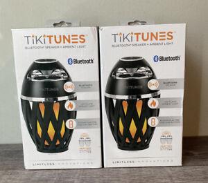 Two TikiTunes 5-Watt Wireless Indoor/Outdoor Portable Speaker and Ambient Light