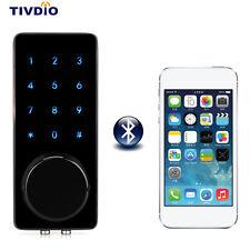 TIVDIO Smart Bluetooth Lock Keyless Home Door Entry Lock Unlock New+Track