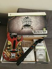 Xbox 360 Guitar Hero Metallica Boxed with Guitar and Game. VGC