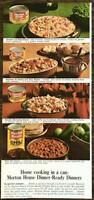 1964 Morton House Canned Dinners Print Ad Chili Chicken Rice Dumplings Potatoes