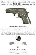Armas Trejo Modelo 1 c1963 22 cal Semi-Full Automatic Pistol Parts Flyer (Mexico