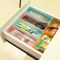 Compartment Kitchen Cabinet Drawer Organizer Divided Sections Storage Box Case