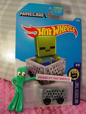 2017 Hot Wheels MINECART #24✰gray; MINECRAFT✰HW Screen Time✰US Case B