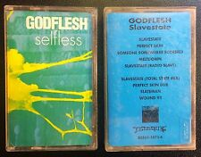 Godflesh Cassette Tape Lot Selfless and Slavestate Promo Death Metal