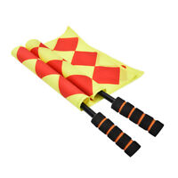 Soccer Referee Flag Fair Play Sports Match Linesman Flags Referee+Carry Bag S EO