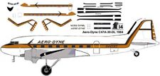AeroDyne red Douglas DC-3 C-47 airliner decals for Minicraft 1/144 kits